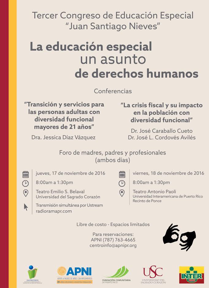 La Educación Especial, un Asunto de Derechos Humanos