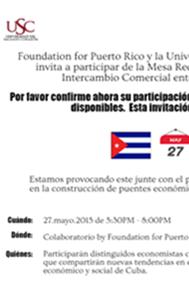 Mesa Redonda Oportunidades de Intercambio Comercial entre Cuba y Puerto Rico