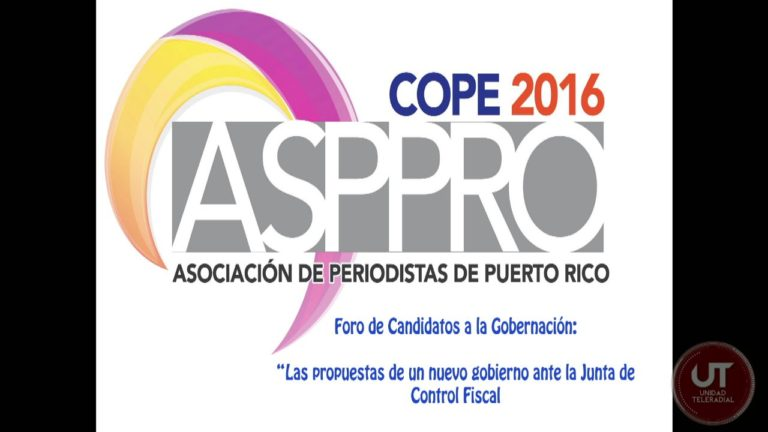 Foro de Candidatos a la Gobernación: COPE 2016