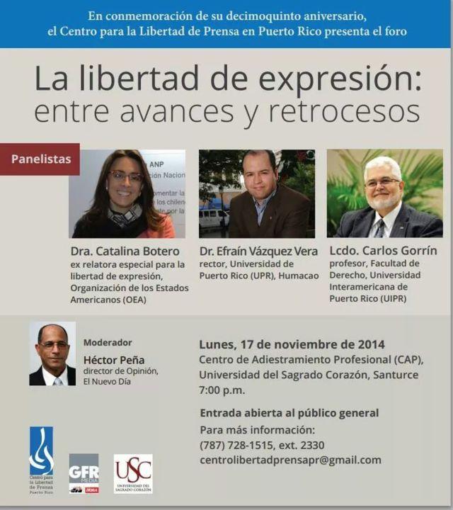 """foro """"La libertad de expresión: entre avances y retrocesos"""""""