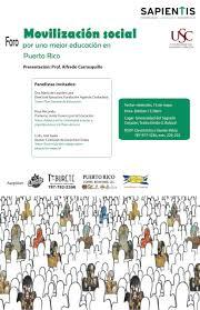 Foro: Movilización social por una mejor educación pública